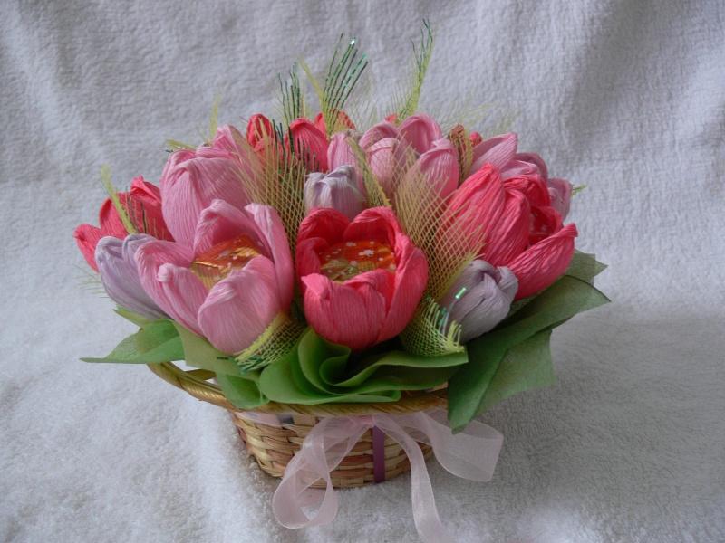 Конфетный букет тюльпанов своими руками