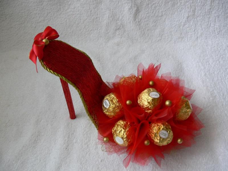 Мастер-класс по конфетной туфельке
